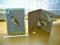 【草木鳥鳥文様展】展覧会限定販売、トリル(ユカワアツコ)の鳥のカード